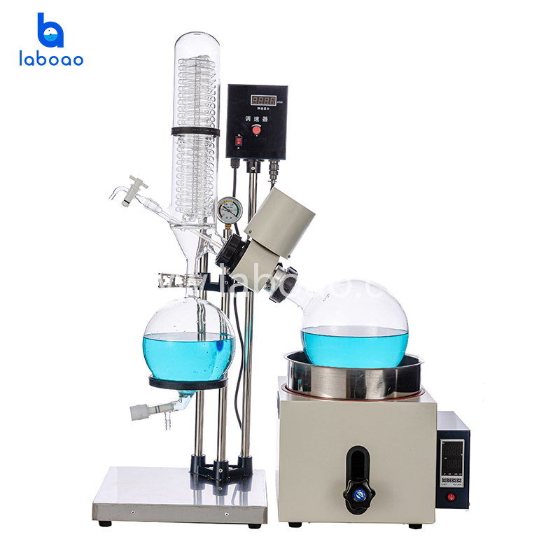 5L Rotary evaporator with bath lift
