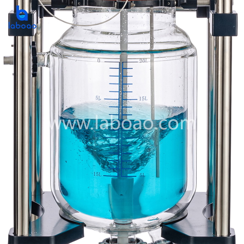 20L jacketed glass reactor