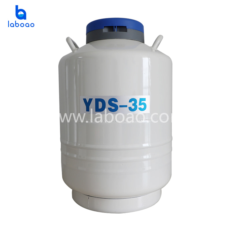 Large calibre liquid nitrogen container