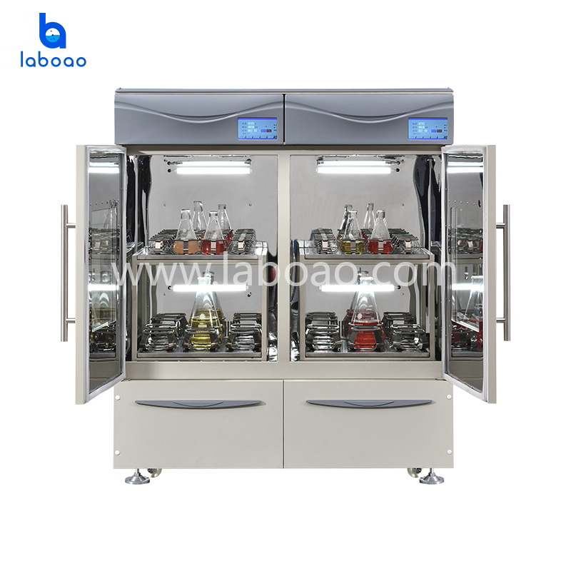 Two separated controlled incubating shaker